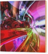 Runaway Color Abstract Wood Print by Alexander Butler