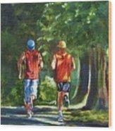 Running Buddies Wood Print