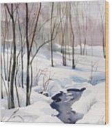 Running Cold Wood Print
