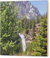 Running Eagle Falls Glacier National Park Wood Print