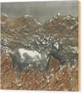 Running With The Wind Wood Print