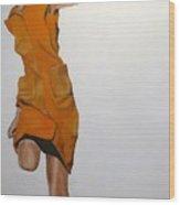 Running Woman Wood Print