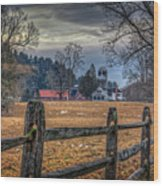 Rural America Wood Print by Everet Regal