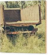 Rural Atmosphere Wood Print
