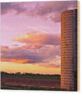 Rural Boulder County Sunset Wood Print