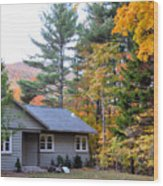 Rural Colorful Autumn Landscape 3 Wood Print
