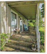 Rural Front Porch Wood Print