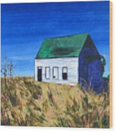 Rural House Wood Print
