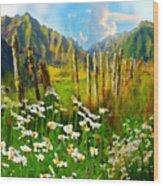Rural New Zealand Wood Print