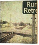 Rural Retreat Wood Print