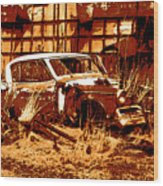 Rural Rust Wood Print