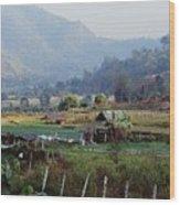 Rural Scene Near Chiang Mai, Thailand Wood Print by Bilderbuch