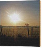 Rural Sunrise Wood Print
