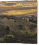 Rural Sunset In Spain Wood Print