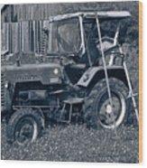 Rural Vehicle Wood Print