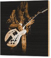Rush 77 #15 Enhanced In Amber Wood Print