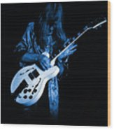 Rush 77 #15 Enhanced In Blue Wood Print
