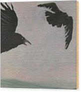 Rush Hour Ravens Wood Print by Amy Reisland-Speer