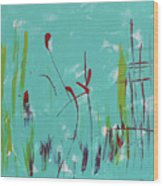 Rushes And Reeds Wood Print