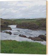 Rushing River Wood Print