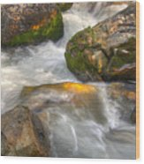Rushing Water 1 Wood Print