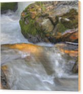 Rushing Water 2 Wood Print
