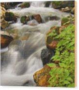 Rushing Water 3 Wood Print