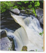 Rushing Water On A Mountain Stream Wood Print