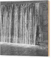 Rushing Waterfall Wood Print