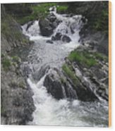 Rushing Waterfalls Wood Print