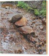Rushing Waters 2 Wood Print