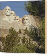 Rushmore Pine Needles Wood Print