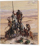 Russell Charles Marion Indians On Plains Wood Print