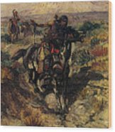 Russell Charles Marion The Scouting Party Wood Print
