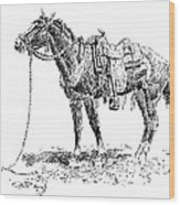 Russell: Rawlins Horse Wood Print