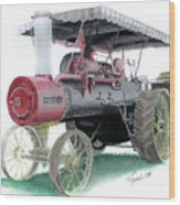 Russell Steam Tractor Wood Print