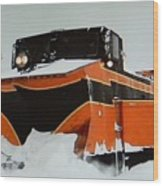 Russell Train Snow Plow Wood Print