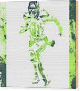 Russell Wilson Seattle Seahawks Water Color Art 1 Wood Print