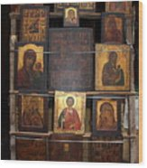 Russia Icons Wood Print