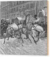 Russia: Troika, 1888 Wood Print