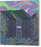 Russian Accordian Wood Print