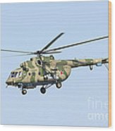 Russian Air Force Mi-171sh Helicopter Wood Print