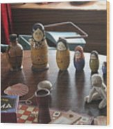 Russian Dolls Wood Print