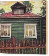 Russian House 2 Wood Print