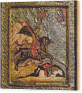 Russian Icon: Demetrius Wood Print