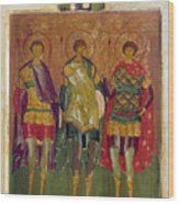 Russian Icon: Saints Wood Print