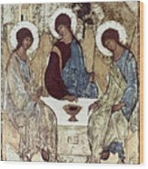 Russian Icons: The Trinity Wood Print
