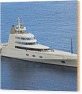 Russian Mega Yacht  A - St Lucia Wood Print