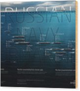 Russian Navy Submarines Infographic Wood Print