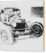 Russian Rat Rod Wood Print